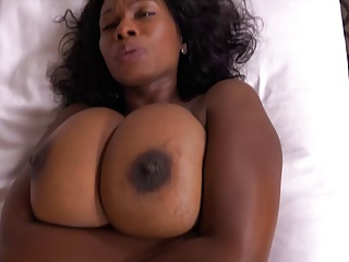 Ebony milf natural tits
