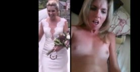 Horny Bride Orgasms