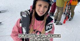 Teeny fickt öffentlich mit dem Skilehrer