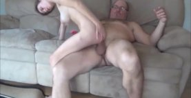 OLD MAN With BIG COCK and SCHOOLGIRL