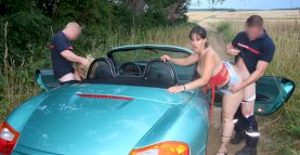 Amateur lesbians caught by firemen in car