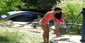 Lesbians outdoor