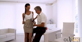 VIP4K. Tight young pussy of bewitching secretary Liliane