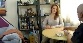 Redhead Loses It All At Strip Poker
