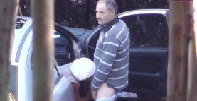 Older daddy caught with prostitute - hidden cam