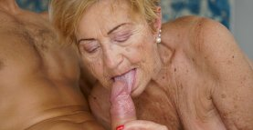 Old Tits Bouncing on Young Dick