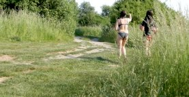 Naturist and two girls