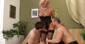 Gangbang and dp for a slutty milf